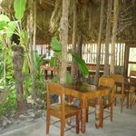 Dining / Reception area with palm roofing