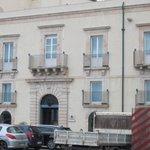 Hotel taken from sea wall.