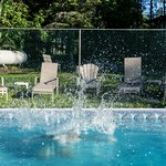 Jump into the Heated Outdoor Pool