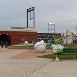 Looking towards the ballpark