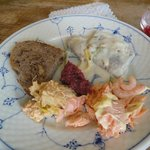 Herring, Salmon-Trout, Shrimp with homemade bread