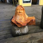 Cool carving on front porch