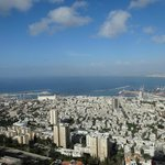 View of Haifa port from the room