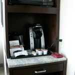 Refrigerator, Coffeemaker and Microwave Oven