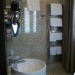 Shower in large bathroom