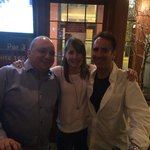 Osteria owner, Nicholas, pictured on left with Sue and Dave from Aspen-Vail Colorado.