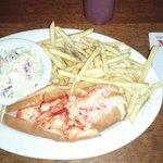 Hot Lobster Roll in butter