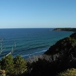 view from the clifftop at the caravan park