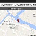 GPS location of Hua Ro market Ayuttaya