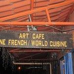 Art Cafe sign outside the restaurant