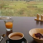View from breakfast over the Lost Farm