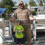 My son and I after his 1st trip with a few of our King mackerals