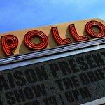Outside the legendary Apollo theater