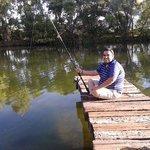 pesca en el lago