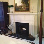 FIre place in John Madison Suite