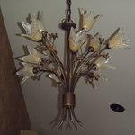 Hallway chandelier in Santina Suite