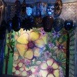 handicrafts inside the resto