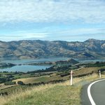 View of Akaroa Harbour from the Hilltop