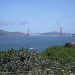 View of Golden Gate Bridge from Coastal trail