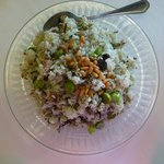Fried Rice with Olive, Pine Seeds and Taro - the only tasty dish we found
