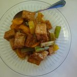 Chilli Tofu with Sesame Sauce - The Chilli was barely noticeable