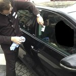 Hotel staff cleaning damage to our car, after a extended wait for it to be returned.