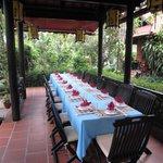 The setting for family dinner