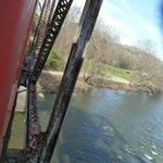 Going over the trussle bridge