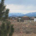 Blick aus dem Fenster zum Humphreys Peak