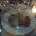 the sea bass - with jerusalem artichoke puree and smoked potatoes