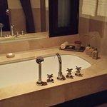 Bath tub with sea salt