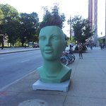 sculpture sur l'Avenue Michigan