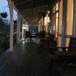 The downstairs veranda