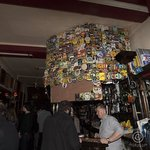 Bar with great collection of eclectic beer and cider coasters
