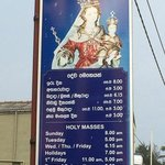 Mass Times, The Ave Maria Church Matara.