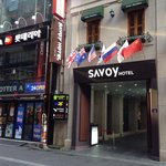 Hotel right outside myeongdong in front of uniqlo and Saem