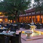 Enjoy evening dinners at the Courtyard