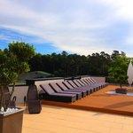 Sonnenterrasse der Asia Ruhe Lounge