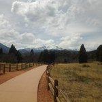 walkway with peak view