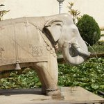 The elephant sculpture