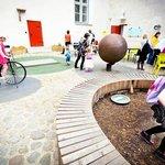 Children in the courtyard