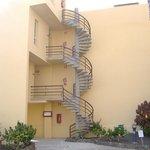 Spiral steps to rooms at Sol Jandia Aparthotel, Fuerteventura