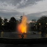 Fountain in the evening