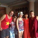 Wonderful staff at Nhi Nhi on our last day
