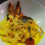 risotto d 'encornet et poisson à la plancha