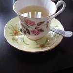 Japanese Berry tea in a china cup!