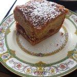 Plum and almond tart.