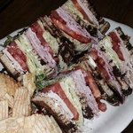 Club Sandwich on marble rye