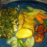 jerk fish stuffed with callaloo