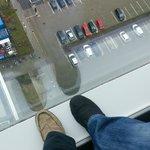 18th floor window is floor to ceiling